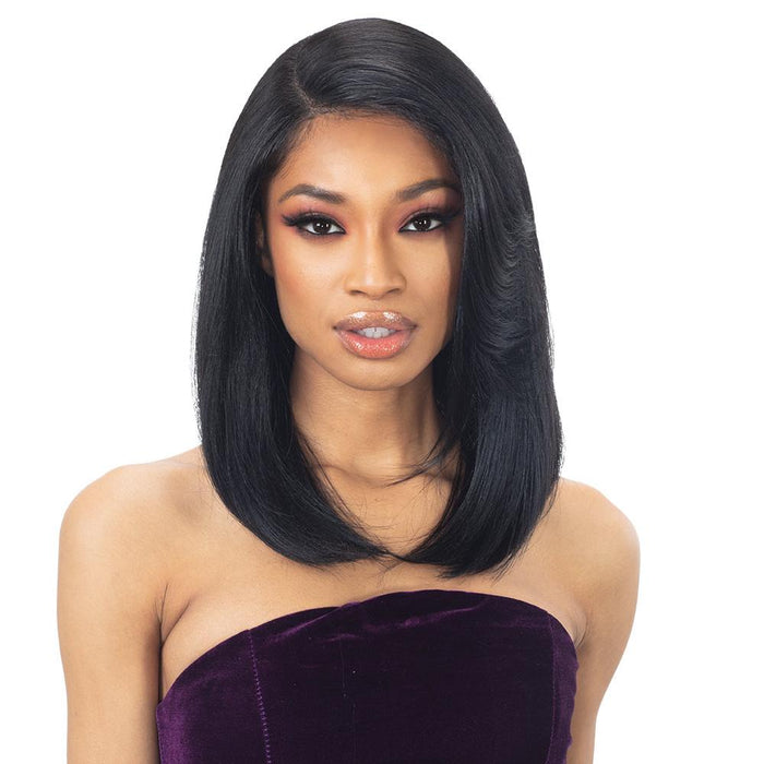 RAMONA | Outre Swiss Lace I Parting Synthetic Lace Front Wig - Hair to Beauty | Color Shown: DR2/ROSEGOLD