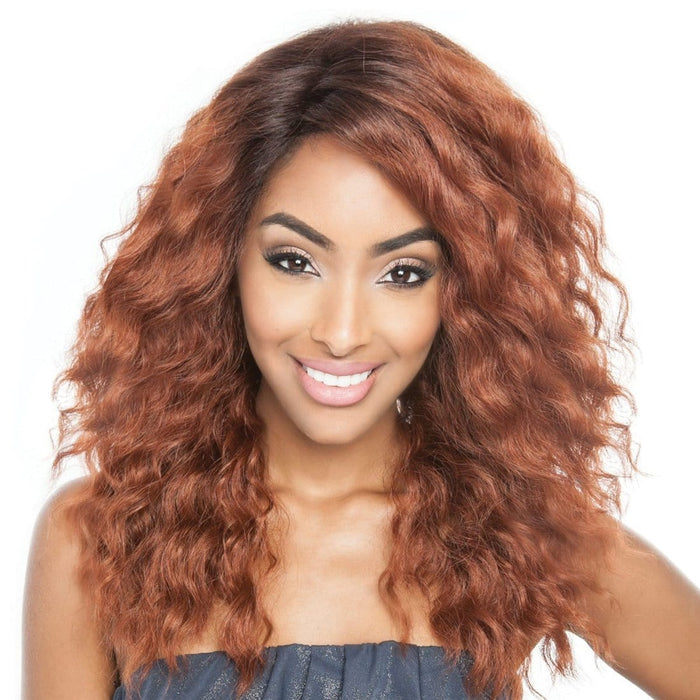 RCP4403 TRINA | Red Carpet Soft Swiss Synthetic Lace Front Wig  - Hair to Beauty | Color Shown : SR4/30/350