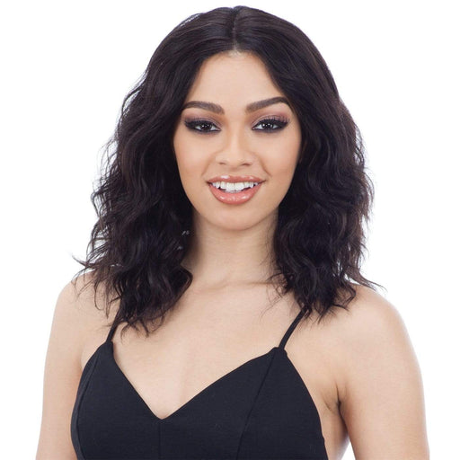 RHIA | Naked Brazilian Human Hair Premium Lace Front C-Part Wig - Hair to Beauty | Color Shown : NATURAL, NATURAL/D, OT30, & OT530
