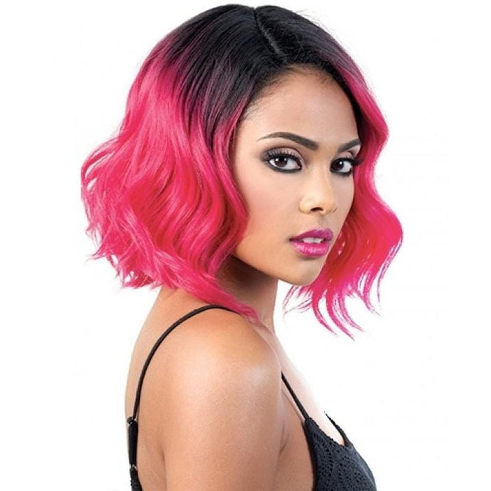 RIRI | Motown Tress Curlable Synthetic Wig - Hair to Beauty | Color Shown: RT1B/NEONPINK