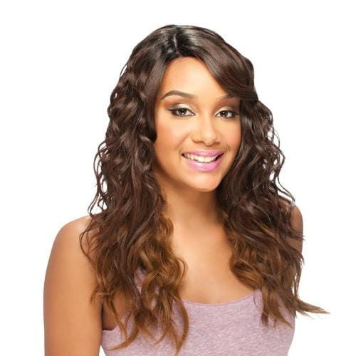 RISQUE | Synthetic Deep Invisible Part Lace Front Wig - Hair to Beauty | Color Shown: OM203