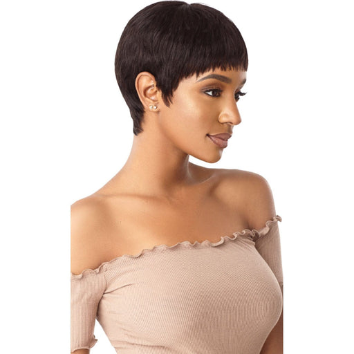 ROBYN | Outre Premium Human Hair Duby Wig - Hair to Beauty | Color Shown: 1B