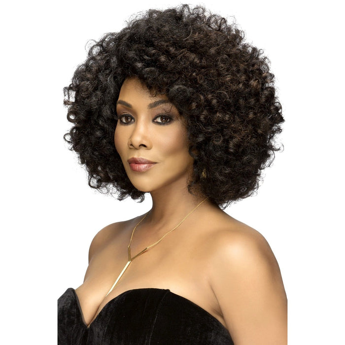 ROOTS | Vivica A. Fox Synthetic Natural Baby Hair Swiss Lace Front Wig - Hair to Beauty | Color Shown: FS1B/30