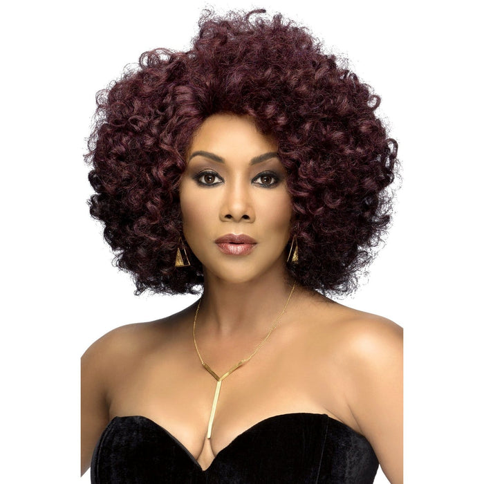 ROOTS | Vivica A. Fox Synthetic Natural Baby Hair Swiss Lace Front Wig - Hair to Beauty | Color Shown: GMCBR/D