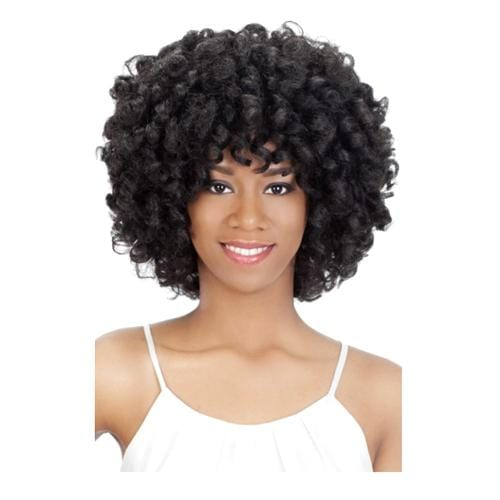 ROOTS | Vivica A. Fox Synthetic Natural Baby Hair Swiss Lace Front Wig - Hair to Beauty | Color Shown: 1B