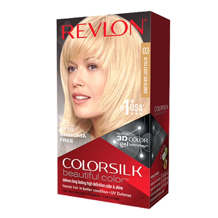 REVLON | ColorSilk Beautiful Color - Hair to Beauty  | Color Shown : 03 ULTRA LIGHT SUN BLONDE