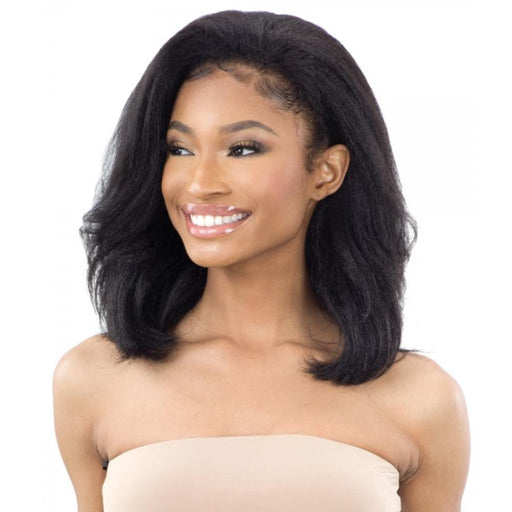 NATURAL ROLLER SET | FreeTress Equal Natural Me Synthetic Drawstring Fullcap Wig - Hair to Beauty | Color Shown: 1B