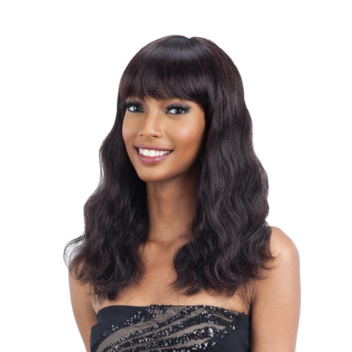 S-WAVE(M) | Unprocessed Remy Human Hair Wig - Hair to Beauty | Color Shown : NATURAL