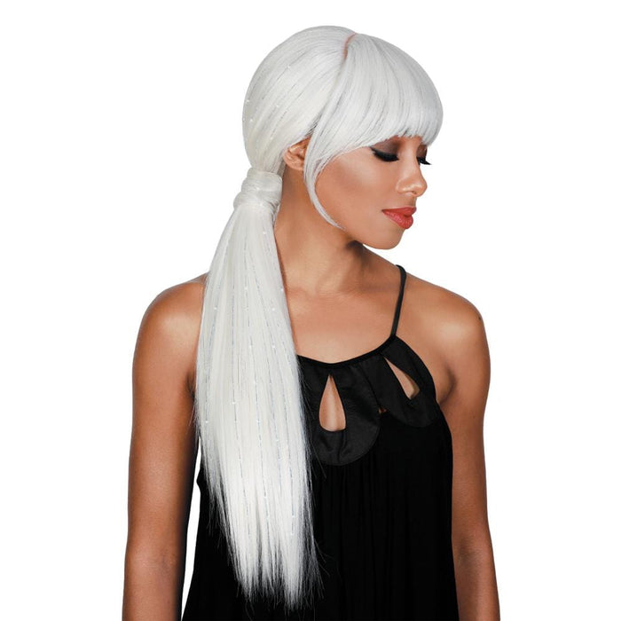 SASSY BANG-H MAUI | Synthetic Wig - Hair to Beauty | Color Shown: TINSEL WHITE