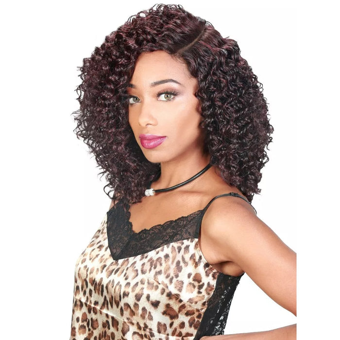 SASSY HM-H PAM | Zury Sis Synthetic Half Moon Part Wig - Hair to Beauty | Color Shown : 99J