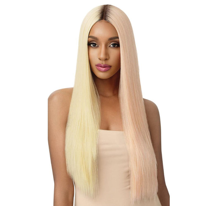 SEDIYAH | Outre Color Bomb Synthetic Lace Front Wig - Hair to Beauty | Color Shown: DRS/613 LPK