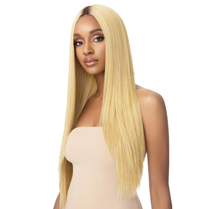 SEDIYAH | Outre Color Bomb Synthetic Lace Front Wig - Hair to Beauty | Color Shown: DRS GDN BLO