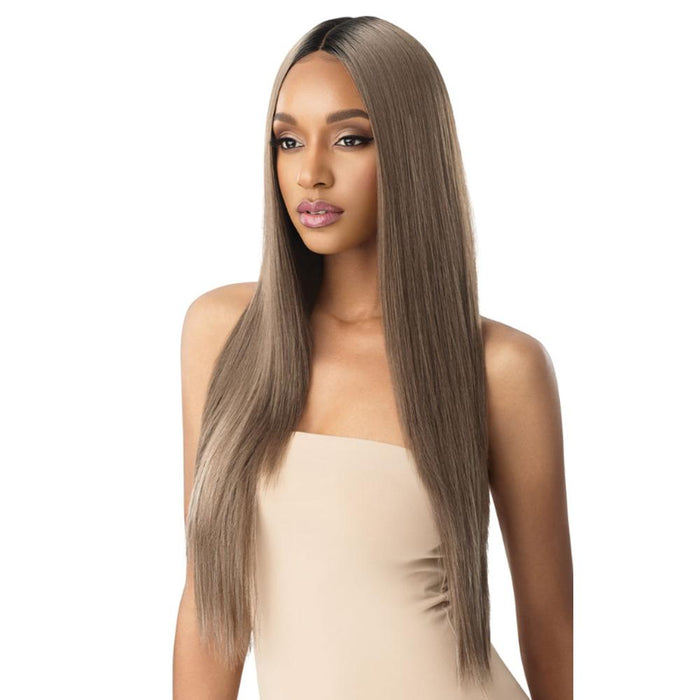 SEDIYAH | Outre Color Bomb Synthetic Lace Front Wig - Hair to Beauty | Color Shown: DRS MUSHROOM BR