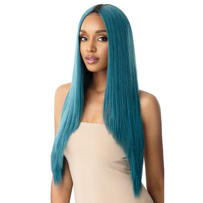 SEDIYAH | Outre Color Bomb Synthetic Lace Front Wig - Hair to Beauty | Color Shown: DRS TURQUOISE