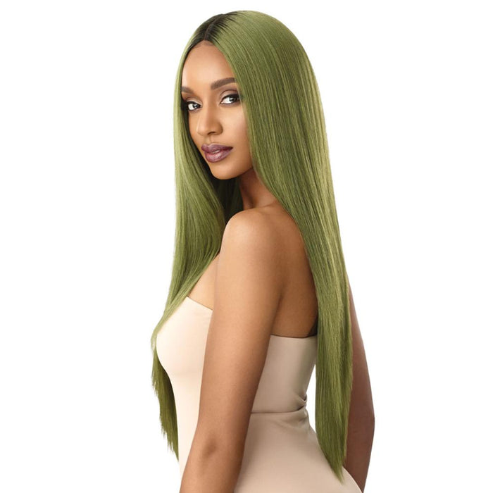 SEDIYAH | Outre Color Bomb Synthetic Lace Front Wig - Hair to Beauty | Color Shown: DRS OLIVE GR