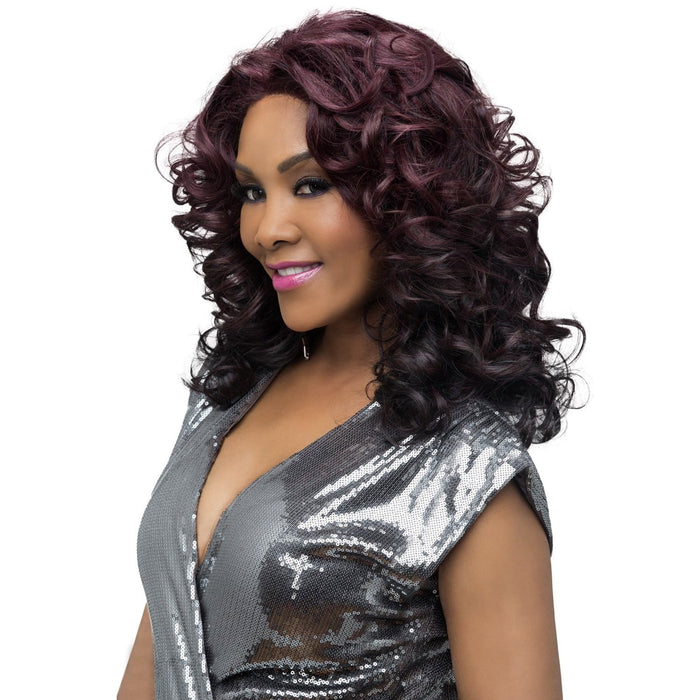 SERENITY | Vivica A. Fox Synthetic Natural Baby Hair Lace Front Wig - Hair to Beauty | Color Shown: GMCBR/D