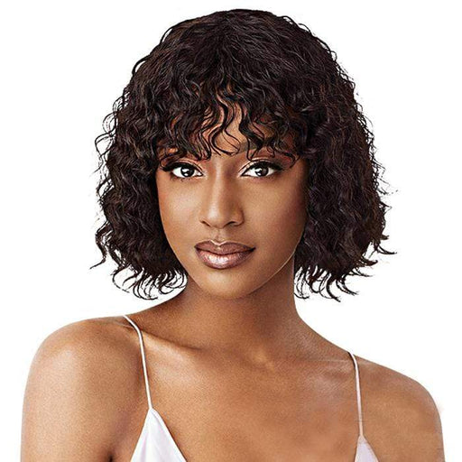 SHARYN | Mytresses Purple Label Wet&Wavy Unprocessed Human Hair Wig - Hair to Beauty | Color Shown : NATURAL BROWN