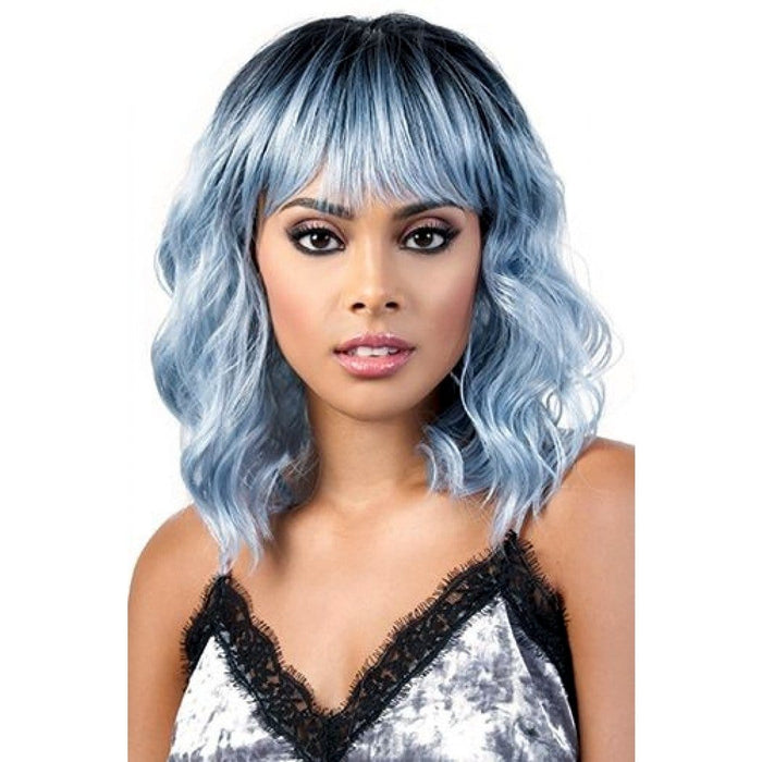 SIA | Motown Tress Curlable Synthetic Wig - Hair to Beauty | Color Shown: RT1B/BLUESILVER