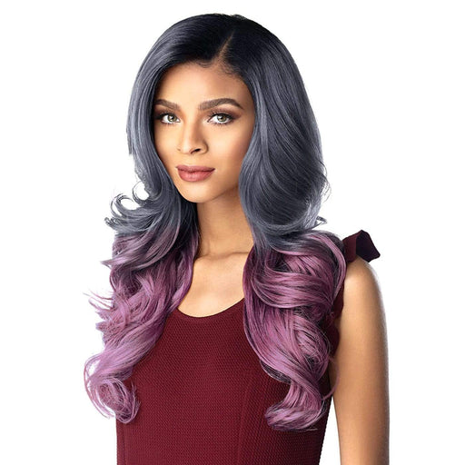 SKYLAR | Sensationnel Empress Shear Muse Synthetic Lace Front Edge Wig - Hair to Beauty | Color Shown: OMT/DENIMVIOLET