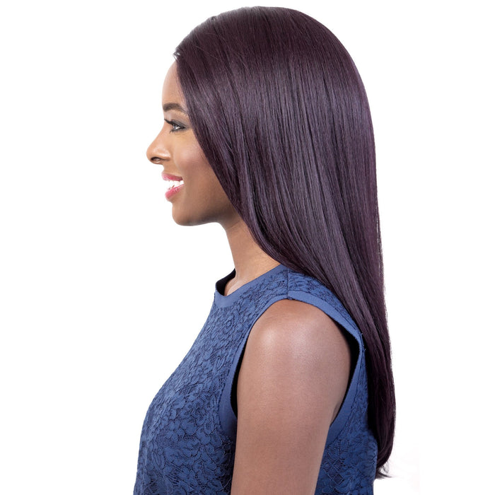 SL.HOPE | Motown Tress Let's Lace Synthetic 4x4 Silk Base Swiss Lace Wig - Hair to Beauty | Color Shown: DARKVIOLET