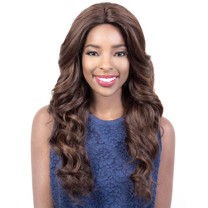 SL.NARA | Motown Tress Let's Lace Synthetic 4x4 Silk Base Swiss Lace Front Wig - Hair to Beauty | Color Shown: F4/30