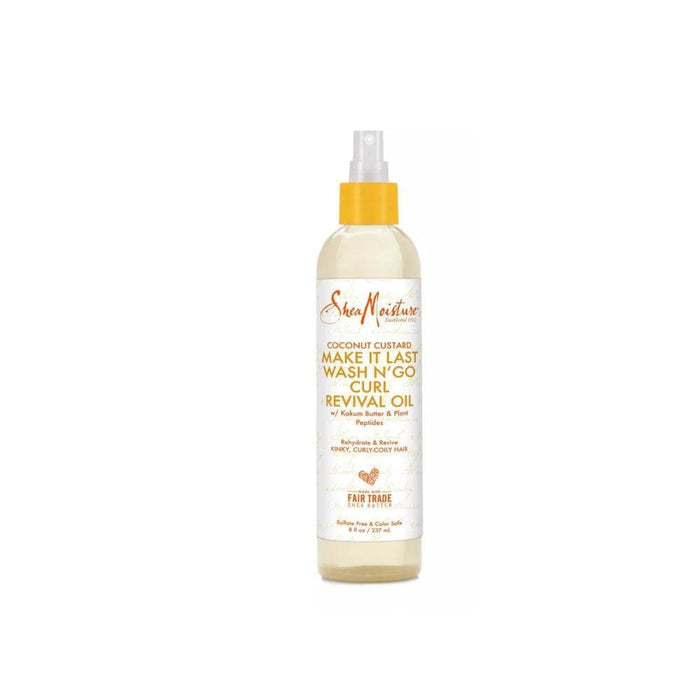 SHEA MOISTURE | Coconut Custard Make It Last Wash N'Go Curl Revival Oil 8oz - Hair to beauty