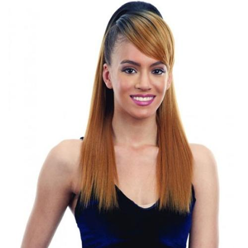 SMOOTH YAKY PONYTAIL and SWOOP SIDE BANG l FreeTress Synthetic Hair - Hair to Beauty l Color Shown: OT27