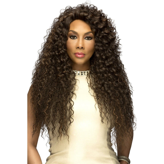 SOBE | Vivica A. Fox Synthetic Deep Swiss Lace Front Wig - Hair to Beauty | Color Shown: FS4/30