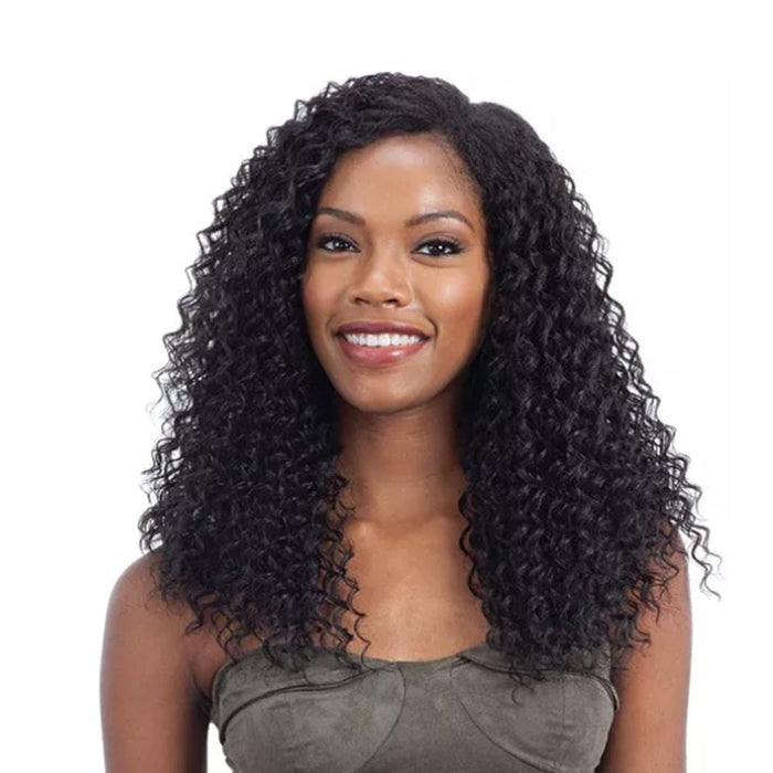 SOFT DEEP | Synthetic Oval Part Crochet Wig - Hair to Beauty | Color Shown: 1B
