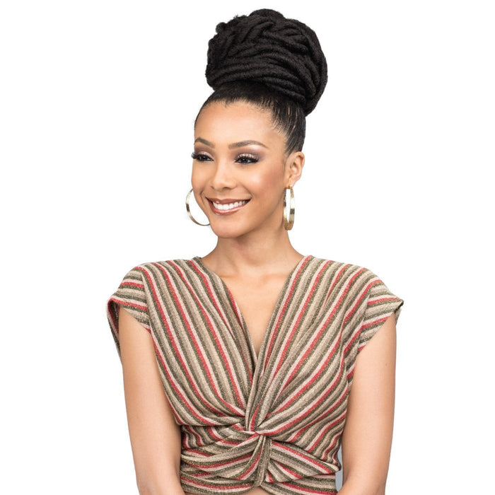 SPUP42 FAUX LOC L - Bobbi Boss Synthetic Hair Drawstring Ponytail - Hair to Beauty | Color Shown: 2