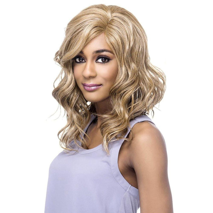 STEPHANIE | Vivica A. Fox Synthetic Natural Baby Hair Invisible Part Swiss Lace Front Wig - Hair to Beauty | Color Shown: P2216