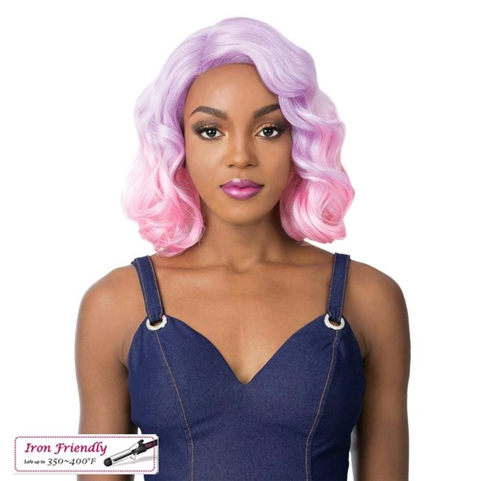 KASO | Synthetic Swiss Lace Front Wig.