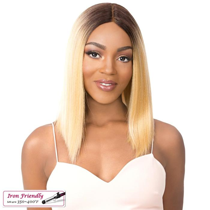 SWISS LACE VARUNA | It's a Wig! Synthetic Swiss Lace Front Wig - Hair to Beauty | Color Shown: HEATHER GREY