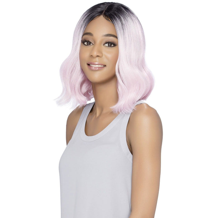TAHITI | Vivica A. Fox Synthetic Natural Baby Hair Invisible Part Swiss Lace Front Wig - Hair to Beauty | Color Shown: STT1B/PINK11