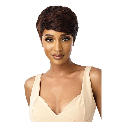 TALINDA | Quick Weave Complete Cap Synthetic Wig - Hair to Beauty | Color Shown: HT1B/350