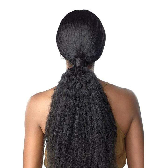 TASIA SLEEK PONYTAIL | Cloud9 What Lace? Synthetic 13X4 360 Swiss Lace Part Wig - Hair To Beauty | Color Shown : 1B