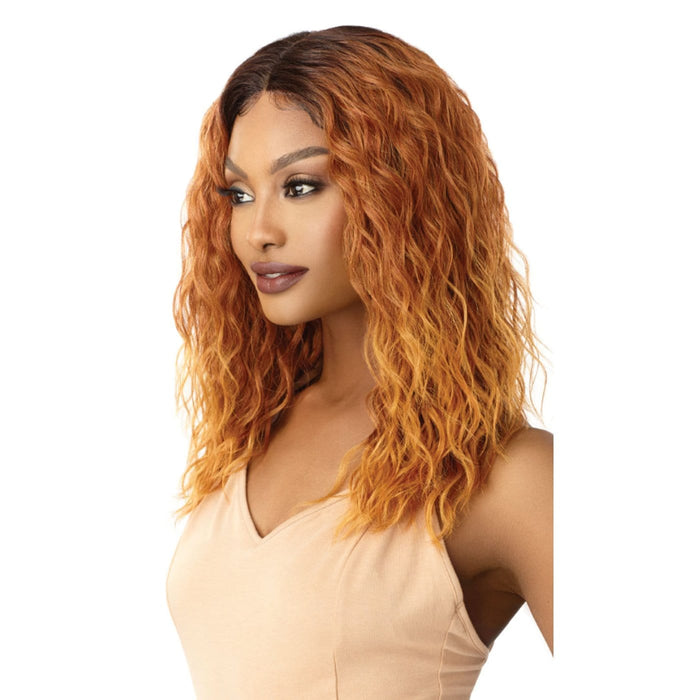 TATUM | Outre Swiss Lace I Parting Synthetic Lace Front Wig - Hair to Beauty | Color Shown: DR4/COPPER GOLD