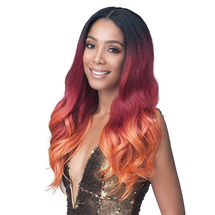 MLF413 TEAGAN | Synthetic 13x4 Lace Front Wig - Hair to Beauty | Color Shown: TT1B/R.OR