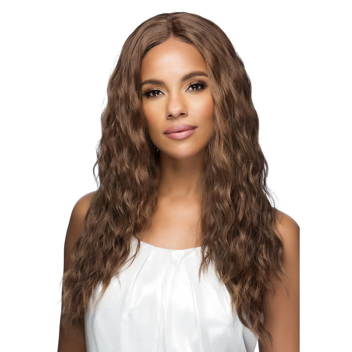 TESSA | Synthetic Natural Baby Hair Invisible Part Swiss Lace Front Wig.