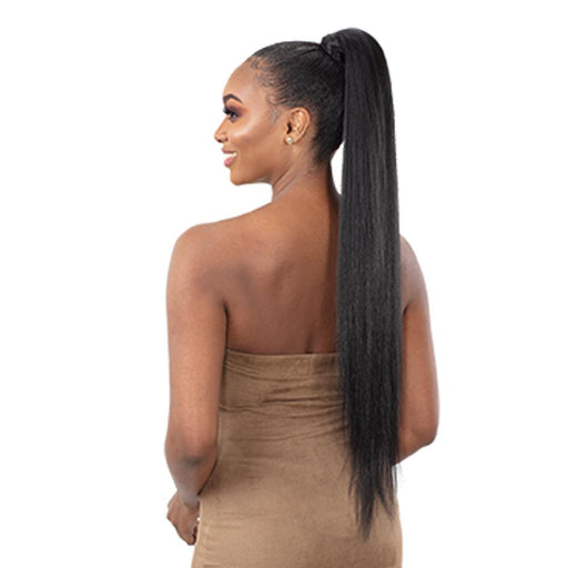 TRUE YAKY | Organique Express Wrap Synthetic Ponytail - Hair to Beauty | Color Shown: 1B