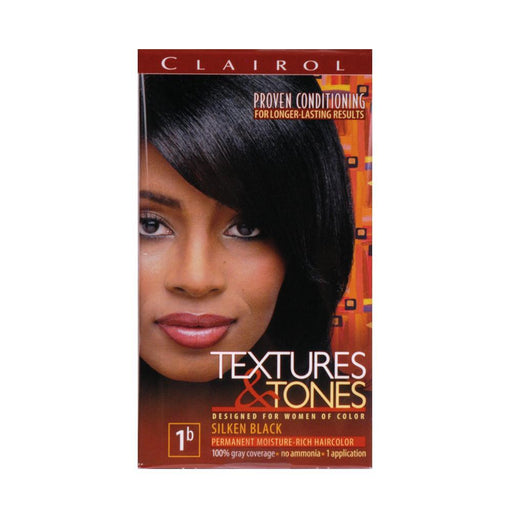 TEXTURES &TONES | COLOR #1B SILKEN BLACK KIT - Hair to Beauty