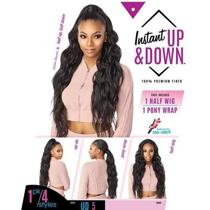 UD 5 | Instant Up & Down Synthetic Pony Wrap Half Wig - Hair to Beauty | Color Shown : 2