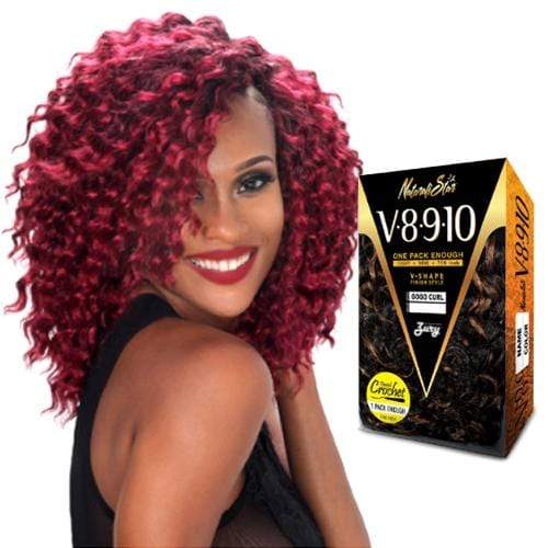 V8910 DEEP TWIST | Zury Sis Naturali Star Synthetic Crochet Braid - Hair to Beauty | Color Shown: