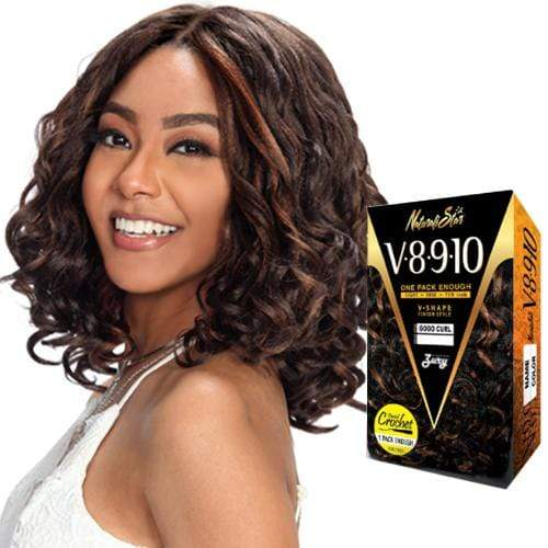 V8910 LOOSE DEEP | Zury Sis Naturali Star Synthetic Crochet Braid - Hair to Beauty | Color Shown: