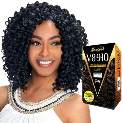 V8910 WANDA CURL | Zury Sis Naturali Star Synthetic Crochet Braid - Hair to Beauty | Color Shown: