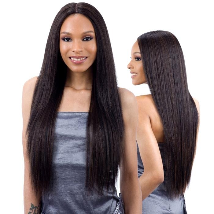VALENCIA l FreeTress Synthetic 5 Inch Lace Part Wig - Hair to Beauty l Color Shown: 1B
