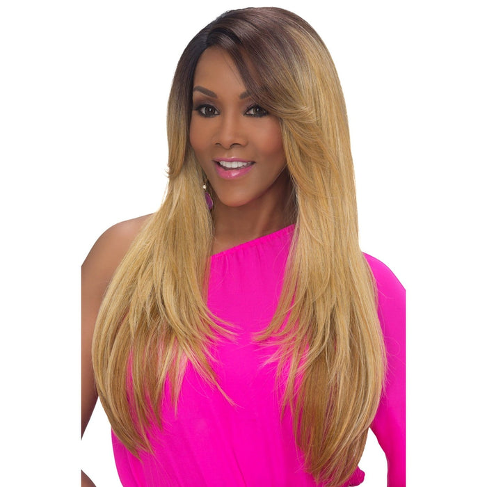VENUS | Vivica A. Fox Synthetic Natural Baby Hair Pre-Cut Full Lace Front Wig - Hair to Beauty | Color Shown: STT28/6743
