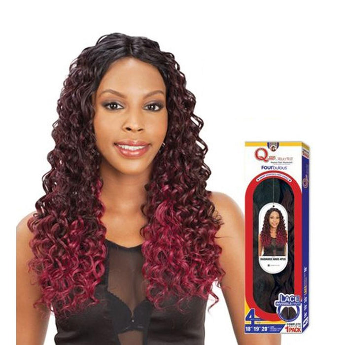 VINTAGE CURL 4PCS | Milky Way Que Fourbulous Human Hair Blend Weave - Hair to Beauty | Color Shown: OMBG
