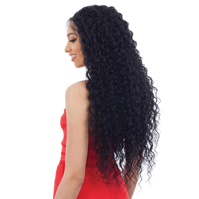FREEDOM PART LACE 404 | Synthetic Lace Front Wig - Hair to Beauty | Color Shown : 1B