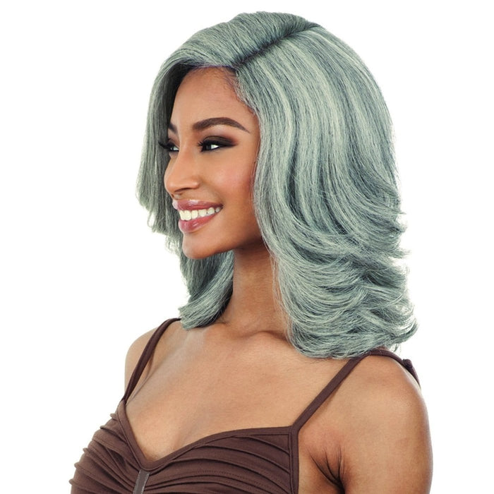 NATURAL SET(L) NATURAL ME | FreeTress Equal 5-Inch Lace Part Synthetic Wig - Hair to Beauty | Color Shown : 1B & GREY